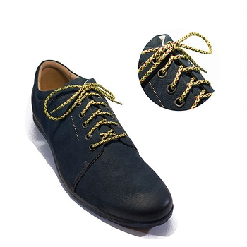shoelaces to navy blue shoe